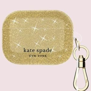 Kate Spade NY AirPods Pro Case - Gold Glitter